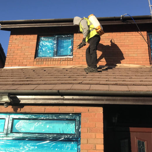 roof cleaning bearsden moss removal and waterproof protection