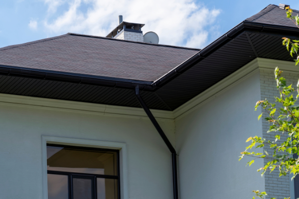 Black downpipe and Gable
